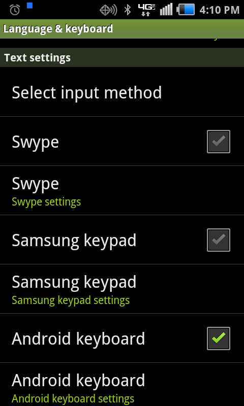 Samsung keypad Disable